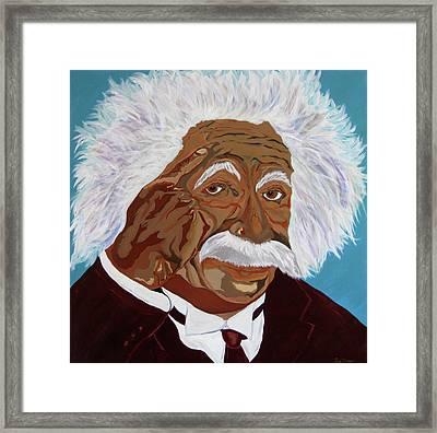 Einstein-relative Thinking Framed Print