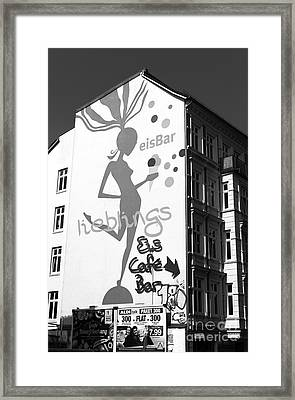 eisBar Hamburg mono Framed Print by John Rizzuto