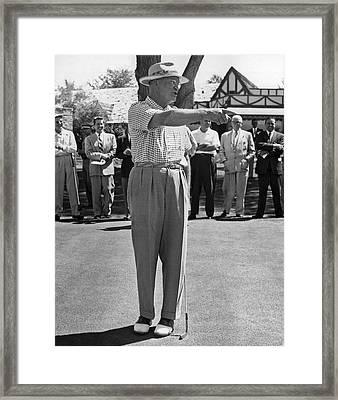 Eisenhower Golf Complaint Framed Print by Underwood Archives