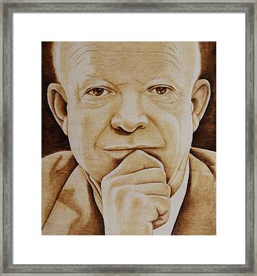 Eisenhower - The Man  Framed Print by Jo Schwartz