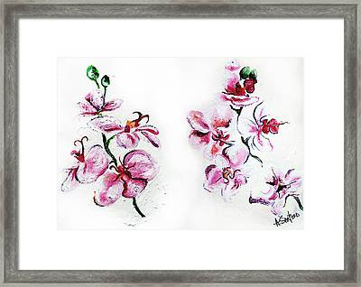 Either Orchid Framed Print by Amanda  Sanford