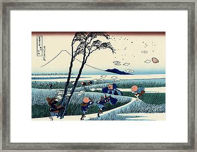 Ejiri In The Suruga Province Framed Print