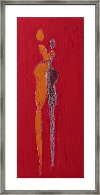 El Abrazo Serie 44 Framed Print by Jorge Berlato