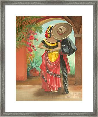 El Beso Framed Print by Kim Lucianovic