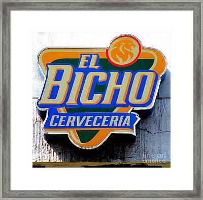 El Bicho Framed Print
