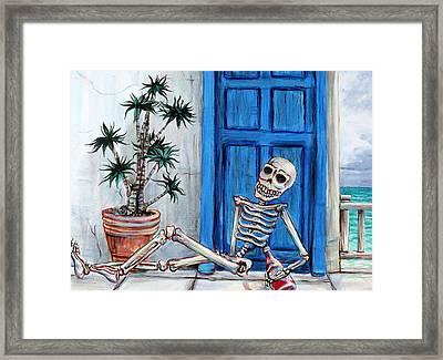 El Borracho De La Playa Framed Print