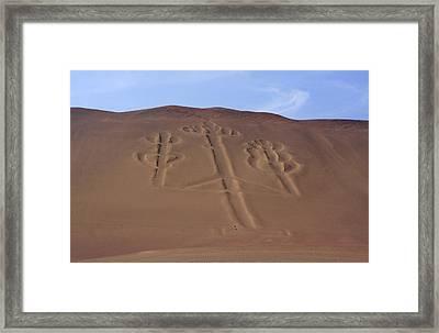 Framed Print featuring the photograph El Candelabro Peru by Aidan Moran
