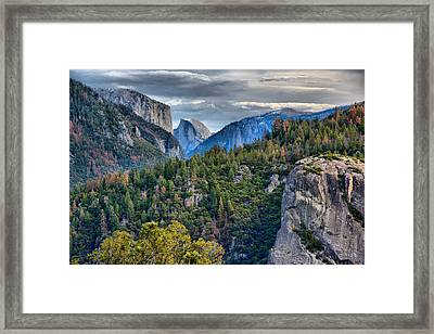 El Capitan And Half Dome Framed Print