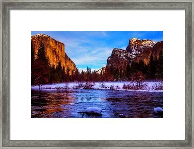El Capitan And Merced River Framed Print by Garry Gay