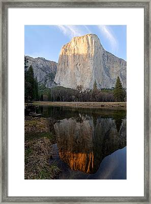 Framed Print featuring the photograph Yosemite - El Capitan by Francesco Emanuele Carucci