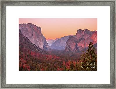 El Capitan Golden Hour Framed Print