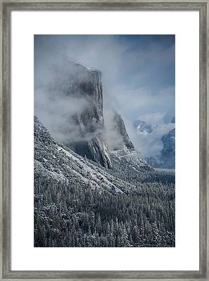 El Capitan In Clouds Framed Print