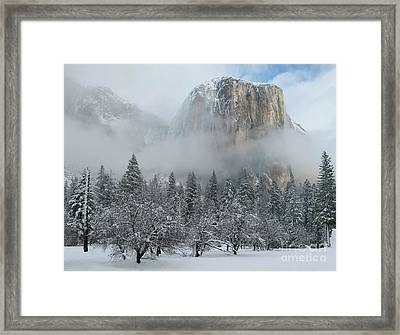 Framed Print featuring the photograph El Capitan Majesty - Yosemite Np by Sandra Bronstein
