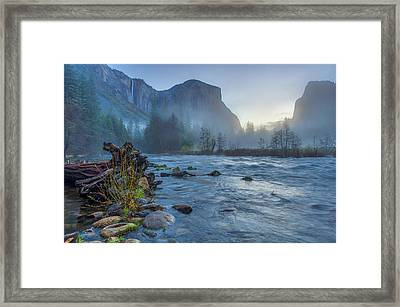 El Capitan Merced River Dawn Framed Print by Scott McGuire