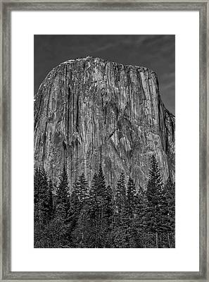 El Capitan Portrait In Black And White Framed Print by Garry Gay
