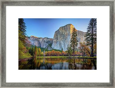El Capitan Sunrise Framed Print by Rick Berk