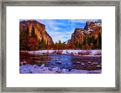 El Capitan Sunset Yosemite Valley Framed Print by Garry Gay