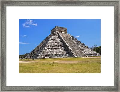 El Castillo At Chichen Itza Framed Print by Pelo Blanco Photo