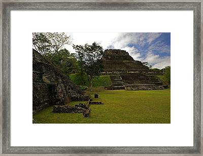 El Castillo Pyramid At Xunantunich Framed Print