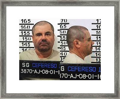 El Chapo Framed Print by Digital Reproductions