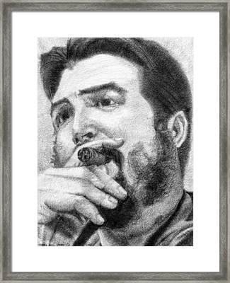 El Che Framed Print by Roberto Valdes Sanchez
