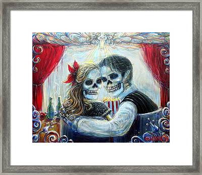 Framed Print featuring the painting El Cine by Heather Calderon