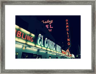 El Cortez Hotel At Night Framed Print