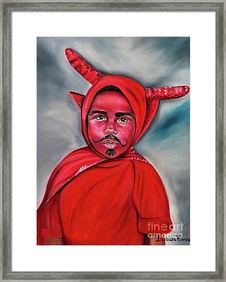 El Diablito  Framed Print by Barbara Rivera