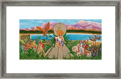El Encuentro Framed Print by Evangelina Portillo