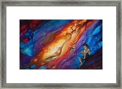 El Flautista Framed Print