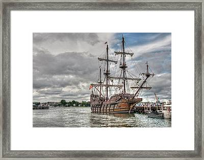 El Galeon Andalucia In Portsmouth Framed Print