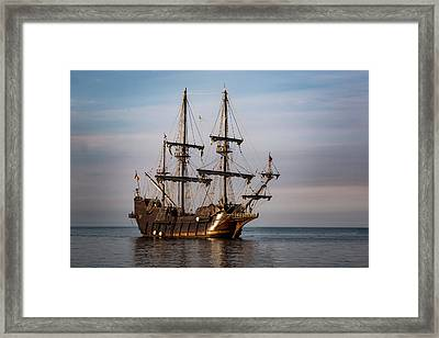 El Galeon Andalucia Tall Ship Framed Print