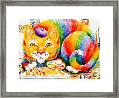 el Gato Artisto Framed Print by Dee Davis