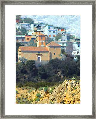 El Golco Church Framed Print by John Bray