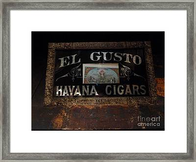 Framed Print featuring the photograph El Gusto by Newel Hunter