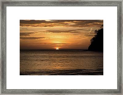 El Jobo Sunset Framed Print by Michael Santos