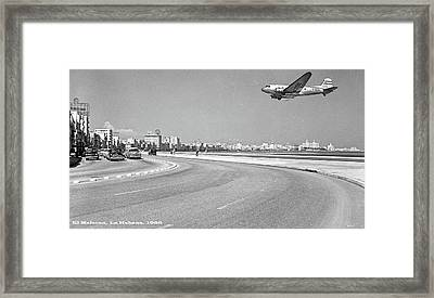El Malecon, La Habana, Cuba, Twa Boeing 307 Stratoliner Framed Print