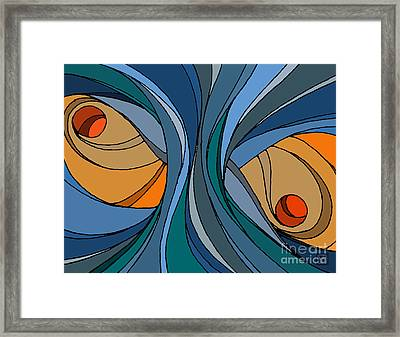 el MariAbelon blue Framed Print