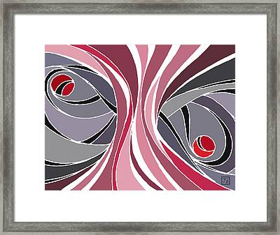 el MariAbelon red Framed Print