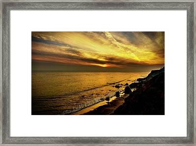 El Matador Beach Sunset Framed Print