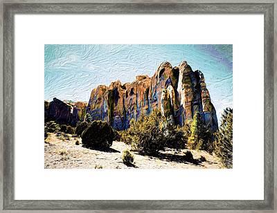 El Morro Cliffs Framed Print by Jim Buchanan