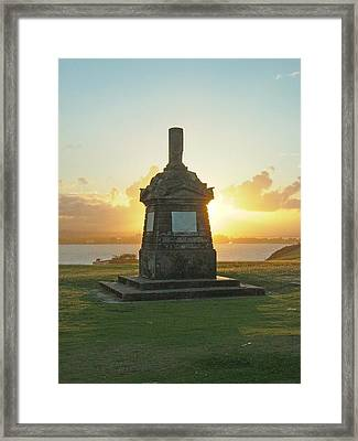 Framed Print featuring the photograph El Morro San Juan Puerto Rico by Gary Wonning