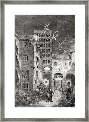El Palacio De La Inquisici Framed Print