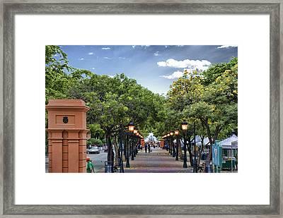 El Paseo De La Princesa Old San Juan Puerto Rico Framed Print by Frank Feliciano