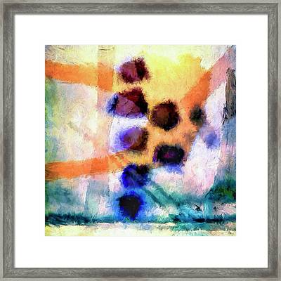 Framed Print featuring the painting El Paso Del Tiempo by Dominic Piperata