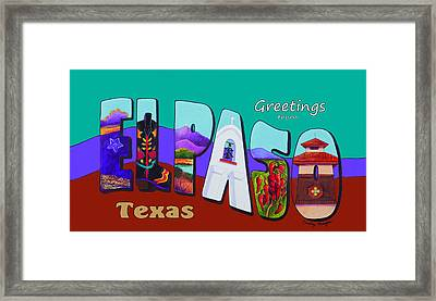 El Paso Postcard Framed Print by Candy Mayer
