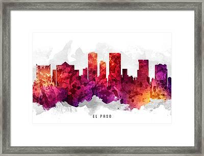 El Paso Texas Cityscape 14 Framed Print