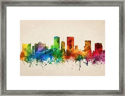El Paso Texas Skyline 05 Framed Print