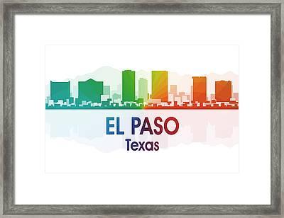 El Paso Tx Framed Print by Angelina Vick