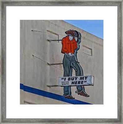 El Paso Western Wear Framed Print by Mountain Dreams